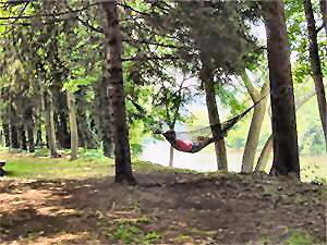 Relaxing In A Hammock By The Shenandoah River